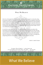 Our What We Believe Portrait