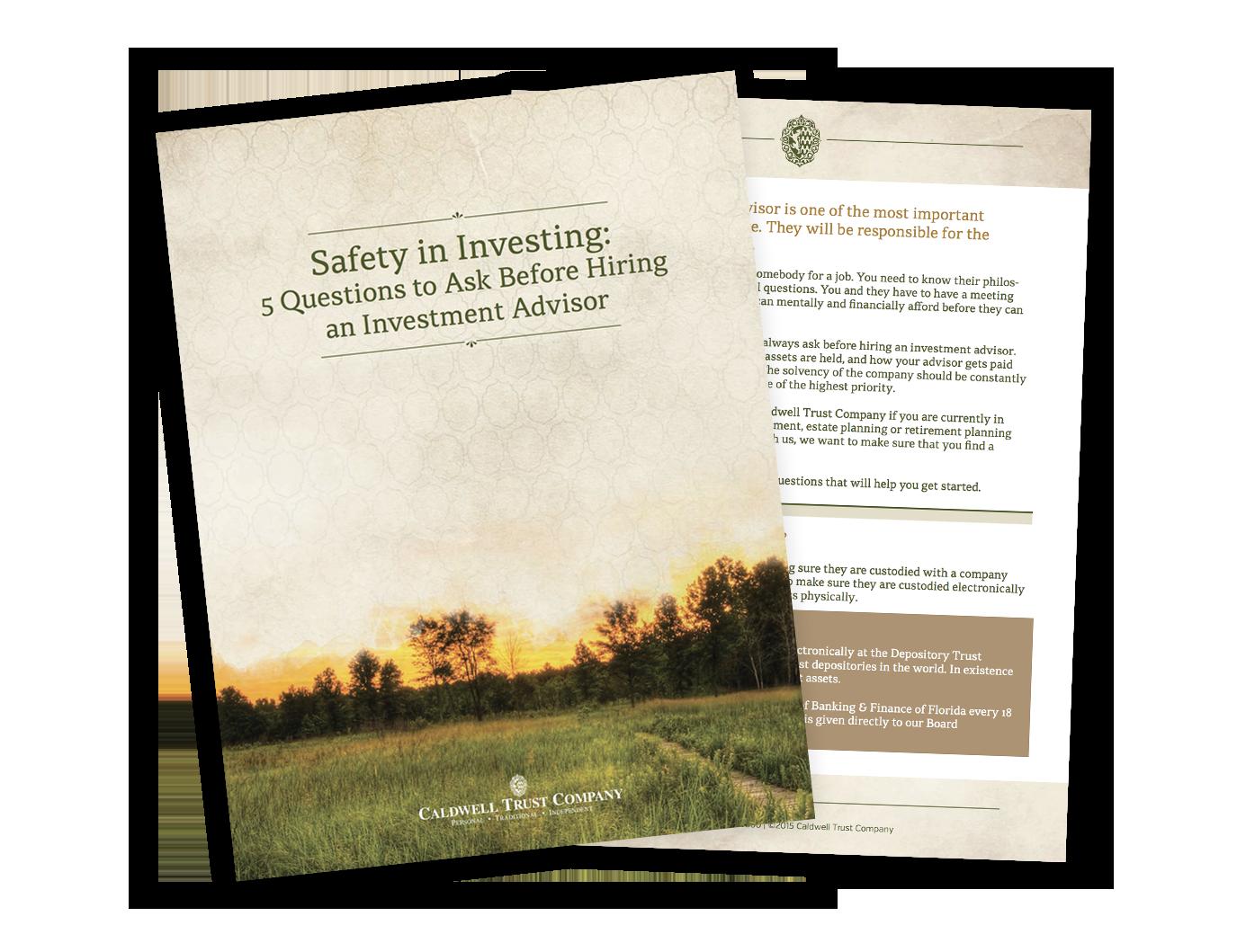 Hiring an investment manager | Sarasota & Venice